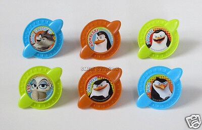 Penguins Of Madagascar Party Supplies (12 Penguins of Madagascar Secret Agent Cup Cake Rings Topper Party Favor)