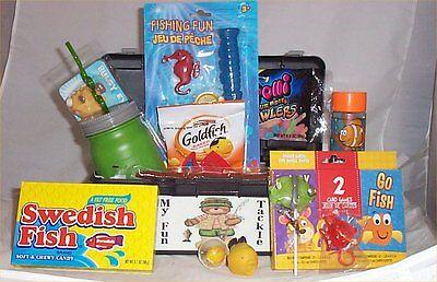 Tackle Box Kids Gift Basket Fun Fishing Gift Lure Kids Cup Lemonade
