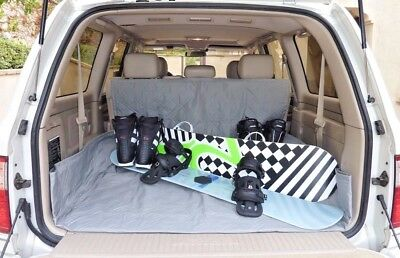 "Cargo Liner For Dog Pet  Quilted/Padded Fit SUV, Truck, Mini Van 52""Wx93""L. Gray"