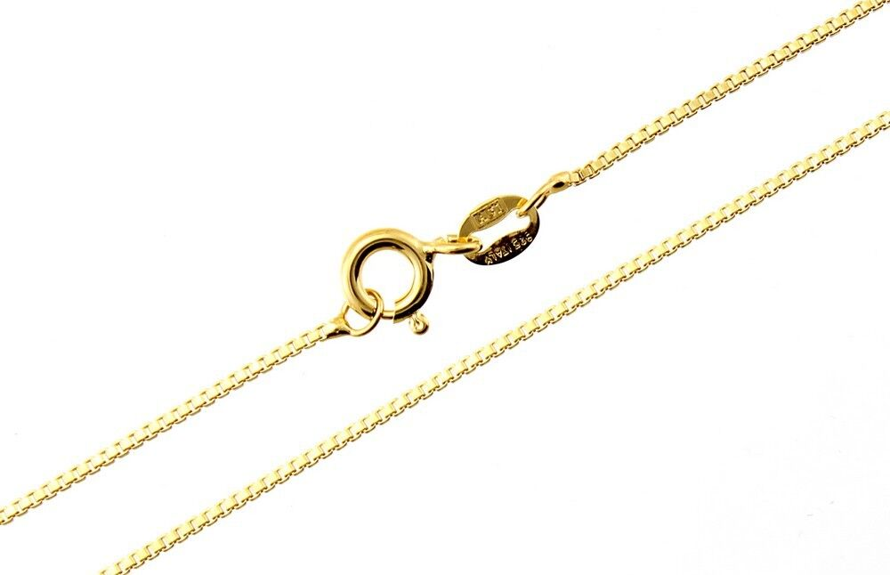 10Kt Pure Solid Yellow Gold 24 inch .6MM BOX Chain with Gift Box Guaranteed!