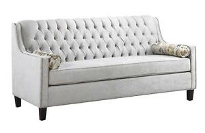 CANADIAN MADE TUFTED BACK SOFA /LOVESEAT /CHAIR ON SALE (AD 282)