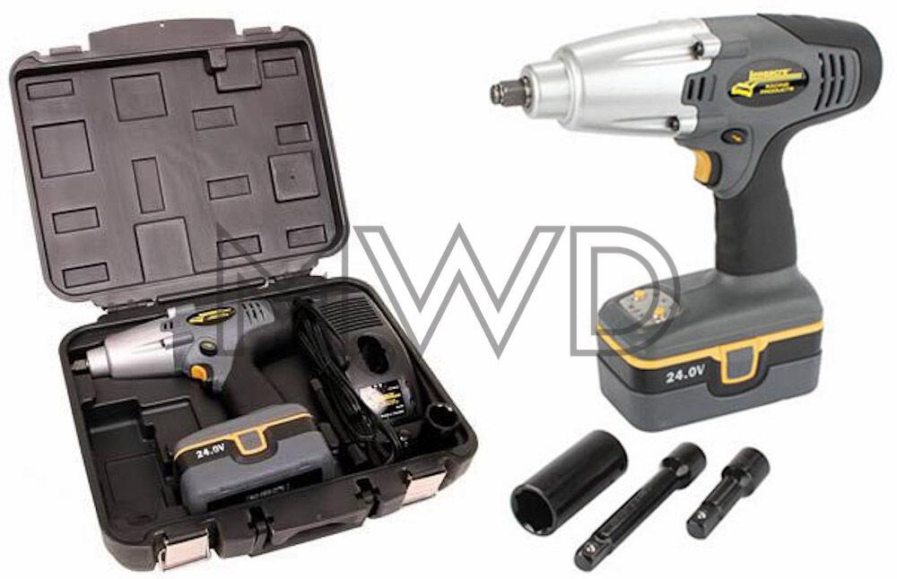 new longacre racing 24v cordless pit impact gun lug wrench 1 battery 68602 ebay. Black Bedroom Furniture Sets. Home Design Ideas