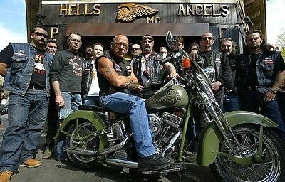 Hells Angels Boss Sonny Barger & His Posse 8.5x11 Amazing Photo