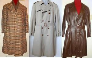 MENS VINTAGE HI QUALITY WINTER COATS JACKETS / OAKVILLE // LEATHER SHEARLING WOOL TRENCHES // GOOD BRANDS // SEE LINK