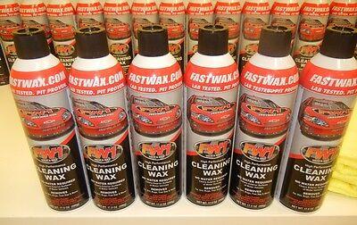 6 Cans Fw1 Fastwax Waterless Wash Carnauba Car Wax Free Ship   Microfiber Towels
