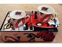 Pop Art - reduced - porcelain tea set for 2