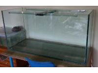 Large 4 ft fish tank 12mm glass 2 ft high