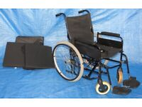 REMPLOY Self Propelled Folding Wheelchair with Seat Belt / Brakes / Footrests