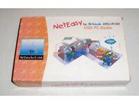 D-Link NetEasy Radio Receiver - DRU-R100 - USB plug-in for PCs, Laptops.