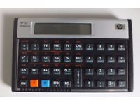 HP 12c Platinum Financial Calculator + cover: excellent condition; approved for CFA exams.