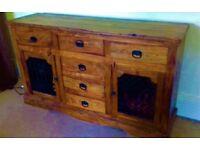 Solid Sheesham Indian Wood Sideboard