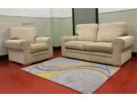 FREE DELIVERY 🚚 3+1 Next Light beige wool fabric sofa / sofa suite / couch / chair / furniture