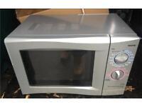 Sanyo silver microwave