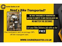 Need your Bike or Part moved? List your delivery job for Free with us.