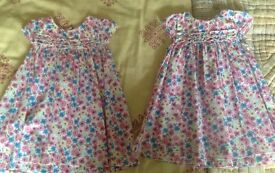 TWO (Twin) 'BLUEZOO' SUMMER DRESSES aged 12-18 Months- excellent condition!