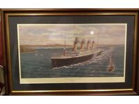 Titanic Print signed by Simon Fisher and Millvina Dean