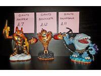 Skylanders characters - used