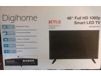 "48"" full HD smart LED tv still in box never been used"