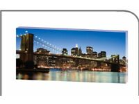 Large New York city eco art canvas