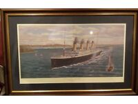 Titanic Print Simon Fisher and Millvina Dean