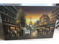 Paris street large oil painting Beautifully Hand painted