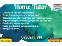 Home Tutor KS1/KS2 SATS- Tuition Maths English