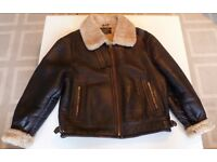 Vintage B3 Leather Shearling Bomber Flight Jacket