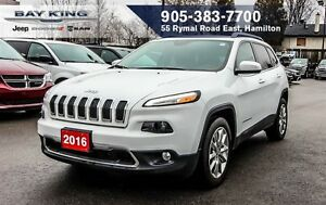 2016 Jeep Cherokee LIMITED, NAVI, HEATED LEATHER, TRAILER TOW, 8