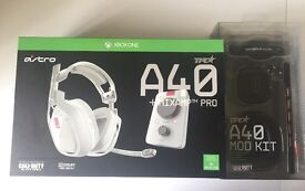 Xbox one Astro A40 TR Headset with limited addition black ops 3 modification kit.