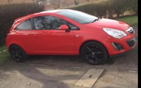 Automatic 3 door Vauxhall Corsa Red 1.4l Petrol