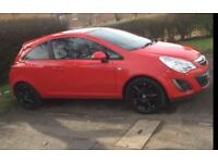 Automatic 3 door Vauxhall Corsa Red 1.4l Petrol