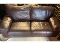 2 seater leather sofa - Pics don't do it justice!