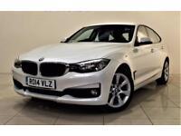 BMW 3 SERIES 2.0 318D SE GRAN TURISMO 5d 141 BHP + SAT NAV + AU (white) 2014