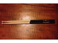 Zildjan 5A Black Dip Hickory Sticks Drumsticks