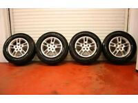 """17"""" GENUINE LAND ROVER DISCOVERY 3 ALLOY WHEELS TYRES 5x120 4 RANGE"""