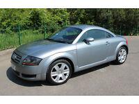 AUDI TT 1.8 TURBO,METALIC GREY,LEATHER SEATS,180BHP LOW MILES 30K. 2006 RELUCTANT SALE