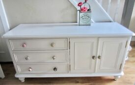 Shabby Chic Look Heavy Solid Pine Sideboard.