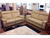 ScS Ashley Cream 3+2 Manual Recliner Sofa Suite