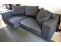 JOHN LEWIS GREY CORNER SOFA - MUST GO ASAP - CHEAP DELIVERY - £295