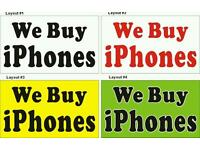 L@@K JUST CASH ANY IPHONES ANY NEW USED CRACKED. NON SERVICE WANTED