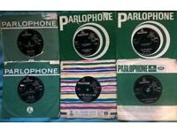 7 Beatles singles, good playable condition