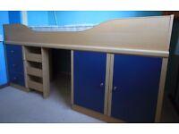 Single mid-sleeper cabin bed.