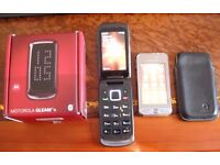 Samsung GT-S5230 Edge Silver and Motorola Gleam + mobile phones for sale