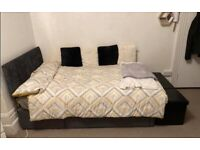Small Double Bed with Storage and Headboard