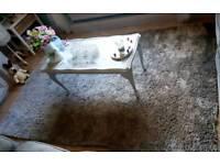 Silver/grey shimmer large rug