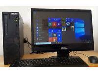 "Fast Lenovo Thninkcentre PC setup,4GB DDR3 RAM,Wifi,20"" HD Screen,win10 64Bit Computer/Desktop"