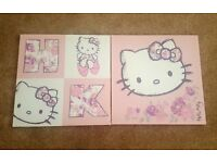 Next Hello kitty wall canvases excellent condition like new