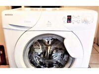 Hoover Optima OPHS712DF 7kg Capacity Slim Depth Washing Machine (White)