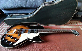 Vintage 1962 Truetone /Kay Speed Demon Hollow Body Electric Guitar in Case