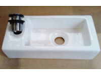 Cloakroom Basin complete with pop-up waste (brand new)
